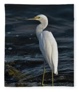 89- Snowy Egret Fleece Blanket