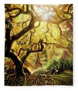 9 Abstract Japanese Maple Tree Fleece Blanket