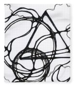 Abstract Pencil Pattern Fleece Blanket