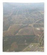 An Aerial View Of Fort Myers Fleece Blanket