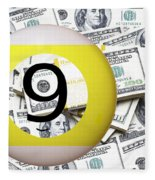 9 Ball - It's All About The Money Fleece Blanket