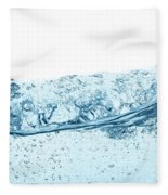 Blue Water Wave Abstract Background Fleece Blanket