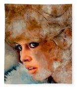 Brigitte Bardot Fleece Blanket