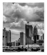 Charlotte North Carolina Fleece Blanket
