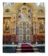Church Of The Savior On Spilled Blood  Fleece Blanket