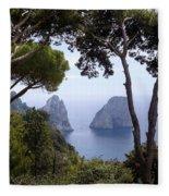 Faraglioni - Capri Fleece Blanket