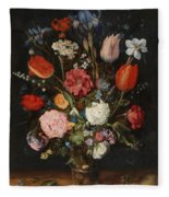 Flower Vase Fleece Blanket