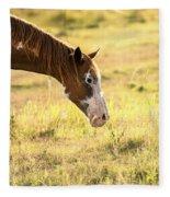 Horse In The Countryside  Fleece Blanket
