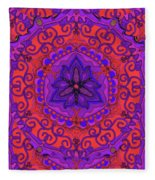 Indian Fabric Pattern Fleece Blanket