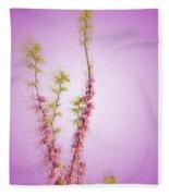 Judas Tree Cercis Siliquastrum Fleece Blanket