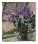 Lilacs In A Window Fleece Blanket