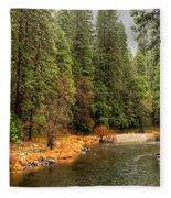 Merced River Yosemite Valley Fleece Blanket