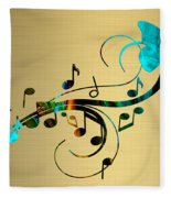 Music Flows Collection Fleece Blanket