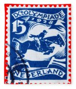Old Dutch Postage Stamp Fleece Blanket