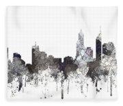 Perth  Australia Skyline  Fleece Blanket