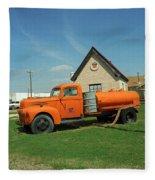 Route 66 - Mclean Texas Fleece Blanket