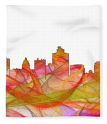 Salt Lake City Utah Skyline Fleece Blanket