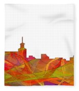 Santa Fe New Mexico Skyline Fleece Blanket
