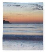 Soft Sunrise Seascape Fleece Blanket