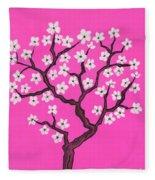 Spring Tree In Blossom, Painting Fleece Blanket