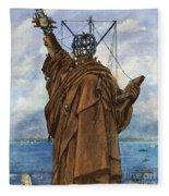 Statue Of Liberty 1886 Fleece Blanket