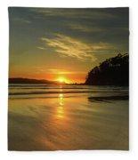 Sunrise Seascape From The Beach Fleece Blanket