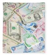 Travel Money - World Economy Fleece Blanket