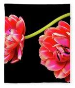 Tulip Floral Arrangement Fleece Blanket
