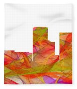 Tulsa Oklahoma Skyline Fleece Blanket