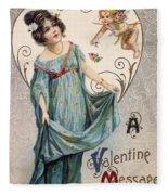 Valentines Day Card Fleece Blanket