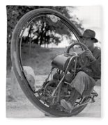 90 M P H Monocycle - 1933 Fleece Blanket