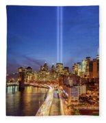 911 Tribute In Light In Nyc II Fleece Blanket