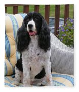 #940 D1034 Farmer Browns Springer Spaniel Fleece Blanket