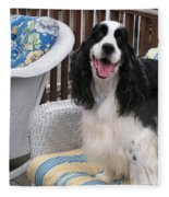 #940 D1036 Farmer Browns Springer Spaniel Happy For You Have A Happy Day Fleece Blanket