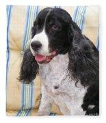 #940 D1042  Farmer Browns Springer Spaniel Fleece Blanket