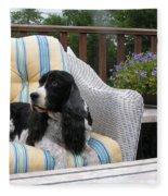 #940 D1052 Farmer Browns Springer Spaniel Fleece Blanket