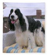 #940 D1056 Farmer Browns Springer Spaniel Fleece Blanket