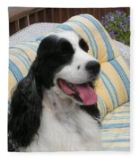 #940 D1066 Farmer Browns Springer Spaniel Happy Fleece Blanket