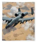 A-10 Thunderbolt Warthog Fleece Blanket