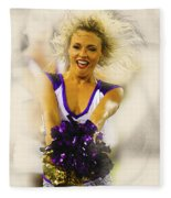 A Baltimore Ravens Cheerleader  Fleece Blanket