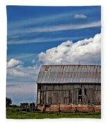 A Barn Fleece Blanket