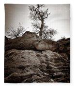 A Barren Perch - Sepia Fleece Blanket