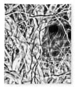 A Bayou Climbing Tree Fleece Blanket