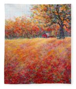 A Beautiful Autumn Day Fleece Blanket