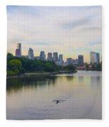 A Beautiful Day In Philadelphia Fleece Blanket