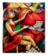A Beautiful Heart, A Beautiful Mind Fleece Blanket