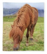 A Beautiful Red Mane On An Icelandic Horse Fleece Blanket
