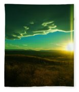A Beautiful Sunset Fleece Blanket
