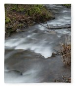 A Bend In The Flow Fleece Blanket