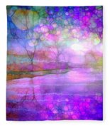 A Bewitching Purple Morning Fleece Blanket